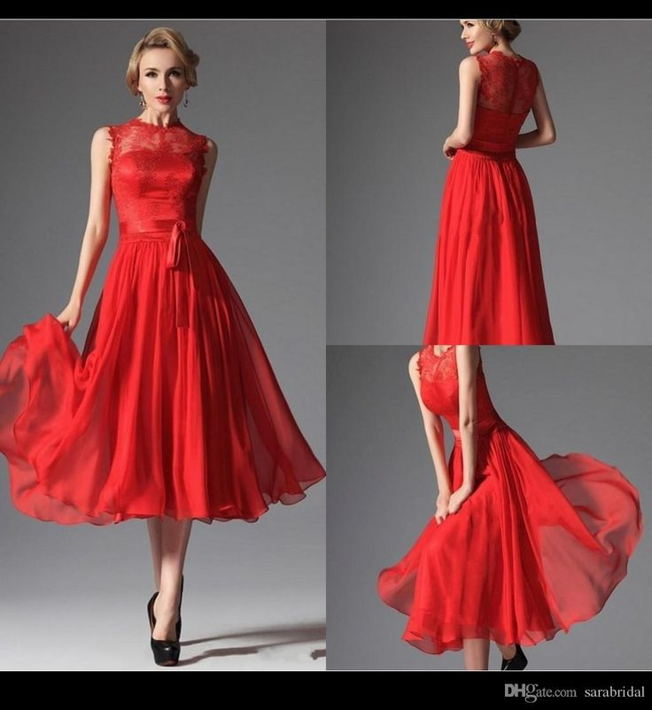31 best vintage pin up fashion from lady jojo 39 s images on for Red tea length wedding dress