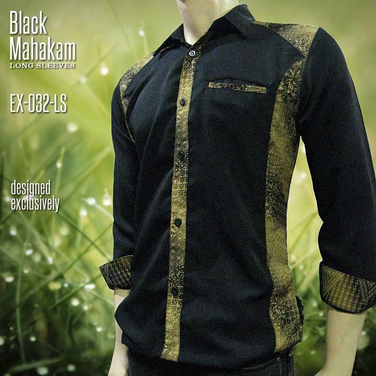 Batik Kombinasi Eksklusif EX-032 (Hitam)