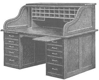 projeto gratuito no blog: Ah! E se falando em madeira...: escrivaninha estilo antigo