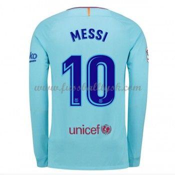 La Liga Fussball Trikots Barcelona 2017-18 Lionel Messi 10 Auswärtstrikot Langarm