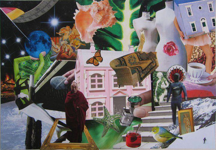 Portrait of a Friend. Paper collage. Kare Grayson MFA.