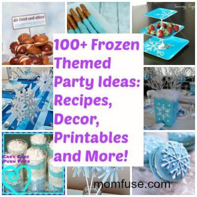 100+ Disney #Frozen Themed Party Ideas: Food, Decorations, Printables & More via MomFuse.com