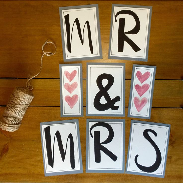 A personal favorite from my Etsy shop https://www.etsy.com/ca/listing/399615603/custom-wedding-banner-mr-and-mrs-art-mr