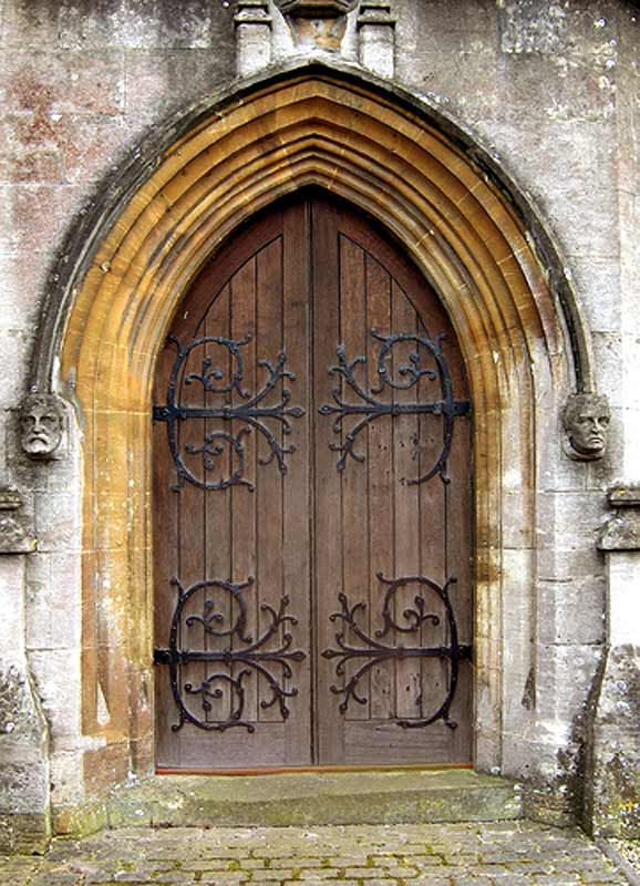 Chapter 6: Pointed arches as well as iron detailing on doors was a defining characteristic of the Gothic Revival period