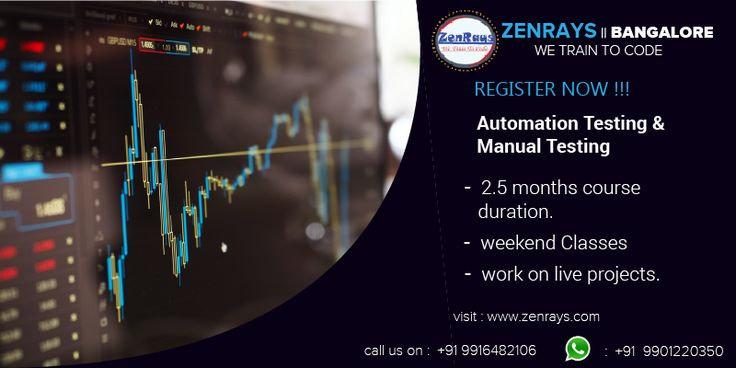ZenRays offers the best Automation Testing Training in Bangalore. We provide 100% placement assistance. Learn with Hands-On Training. Work on Live Project Write to corporate@zenrays.com Call: +919916482106 | WhatsApp: 9901220350 Visit http://zenrays.com/automation-testing-training-in-bangalore