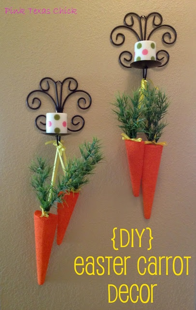Cenoura decorada para Páscoa ~easter craft