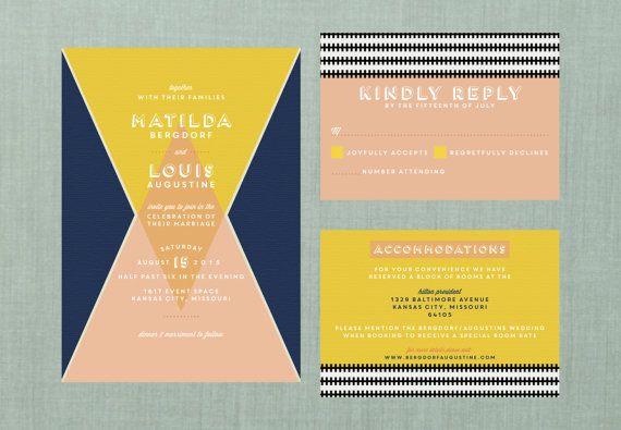 Modern Colorblock Wedding Suite // DOWN PAYMENT by blacklabstudio