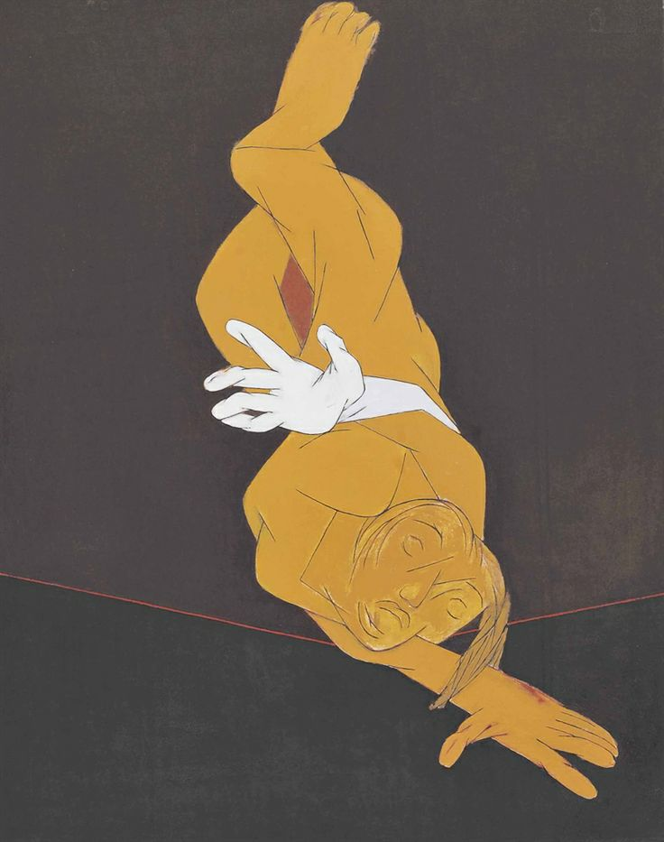 Tyeb Mehta (1925-2009) Untitled (falling Figure)