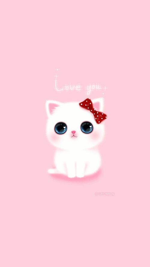 Cat Cute Kawaii Backgroud Wallpaper