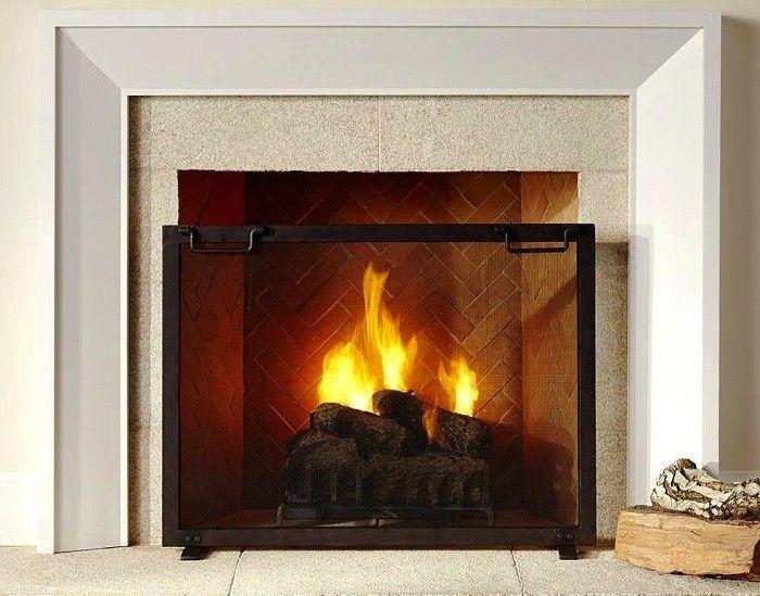 Pottery-Barn-Industrial-Fireplace-Screen