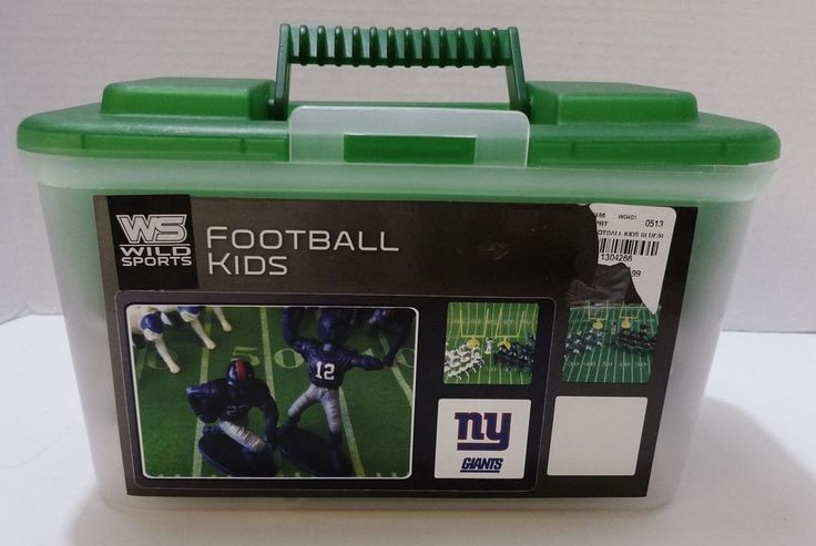 Keep the kids- of all ages - busy while you are trying to watch the game Table top Football Game New York Giants Goal Posts Players Logo Field Mat #WildSportsFootballKids#tabletopFootball $20