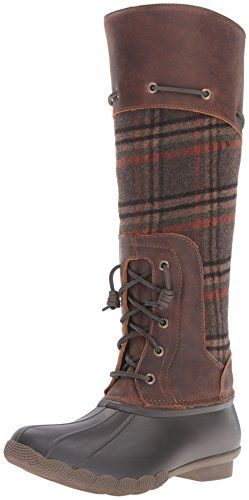 Sperry TopSider Womens Saltwater Sela Wool Rain Boot BrownPlaid 8 M US >>> Want to know more, click on the image.(This is an Amazon affiliate link and I receive a commission for the sales)