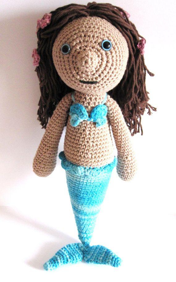 Mermaid amigurumi. Handmade crochet doll. Fairy by HimawariLand