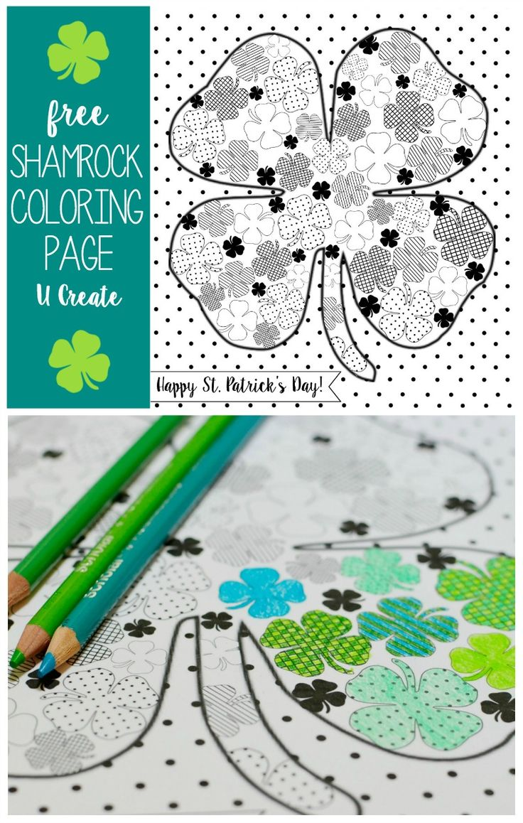 Free coloring pages shamrock