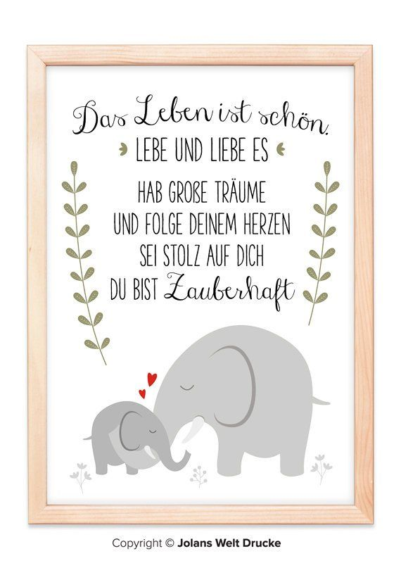 Elephant art print, poster on artist paper, gift, mural, home, A4 or A3, living room, picture, decoration