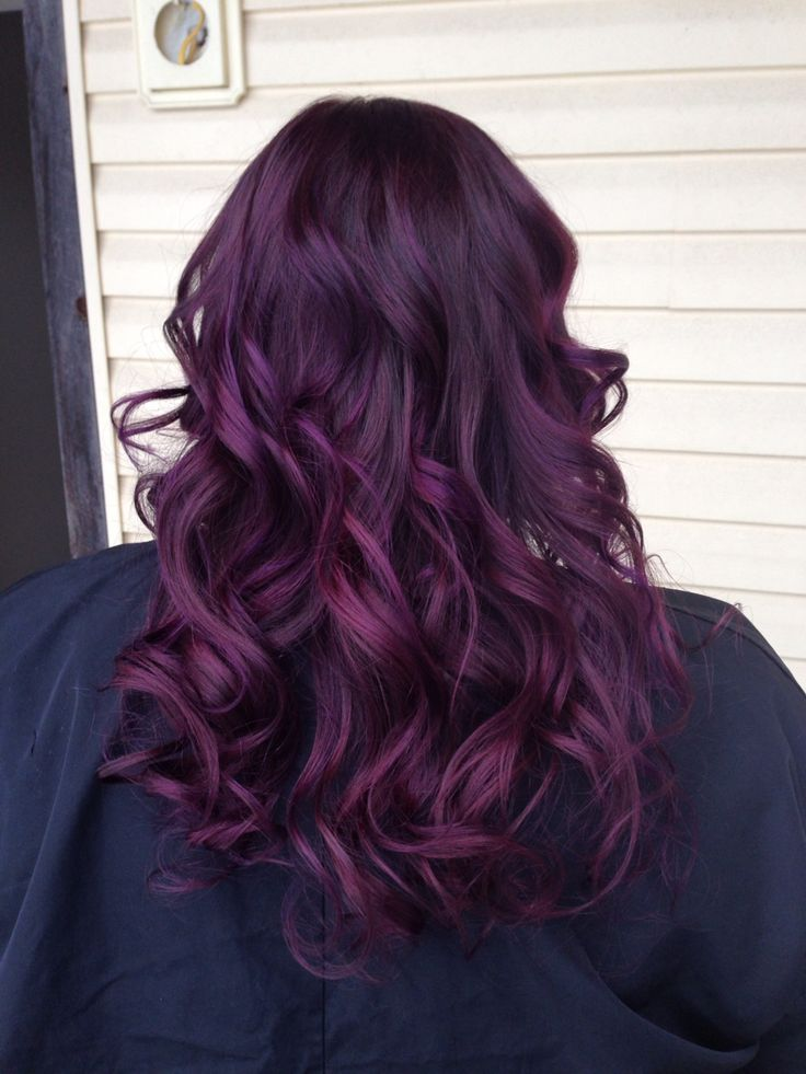 Best 25 Purple Tinted Hair Ideas On Pinterest  Dark Purple Hair Color Fall