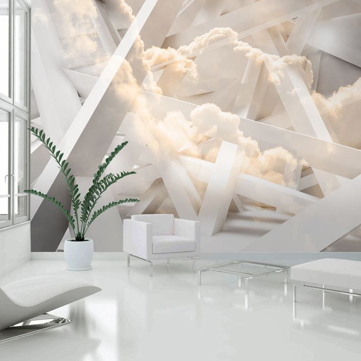 details zu fototapete 3d optik vlies tapete wolken. Black Bedroom Furniture Sets. Home Design Ideas
