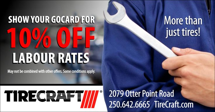 Trust Dumont Tires for all your automotive repairs. Sooke GoCard holders receive 10% off labour rates! http://thegocard.ca/get-a-gocard Get a GoCard here//bit.ly/2qlGbI2 #sookegocard #dumont #tirecraft