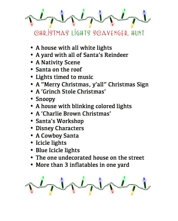 Omg Reagan this would be perfect!  Driving around the neighborhoods and looking for this stuff with different teams of two or three in different cars! Maybe have each team take a picture in front of what they find
