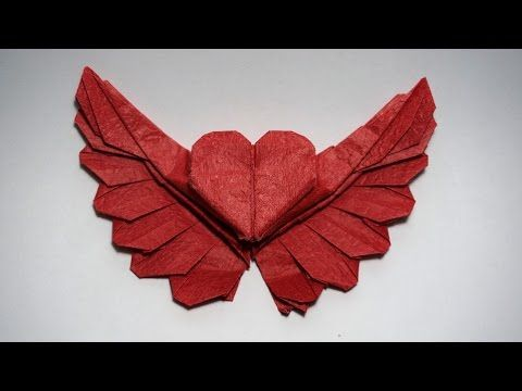 How to make an origami heart - origami winged heart 2.0 (Henry Phạm) - YouTube