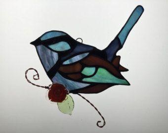 Amerikaanse torenvalk Suncatcher in gekleurd door robinsglassworld