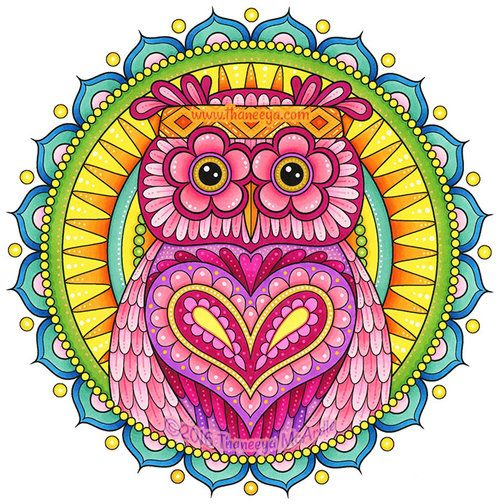 Hippie Owl Coloring Page From Thaneeya McArdles Animals Book
