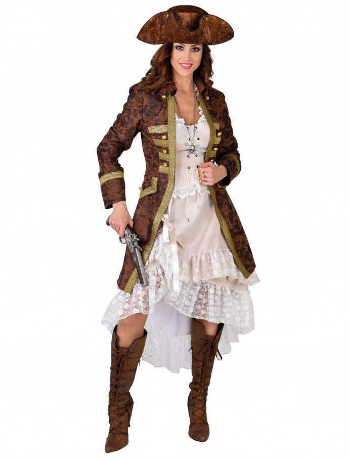 Piratenkostüm Damen Piratinnenkostüm Piratenbraut Seeräuberin Piratin Fasching