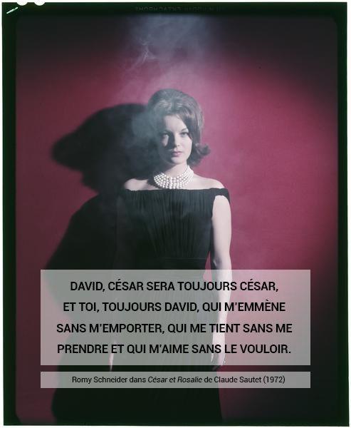Sam Lévin, Romy Schneider, vers 1960 Positif transparent couleur sur support souple
