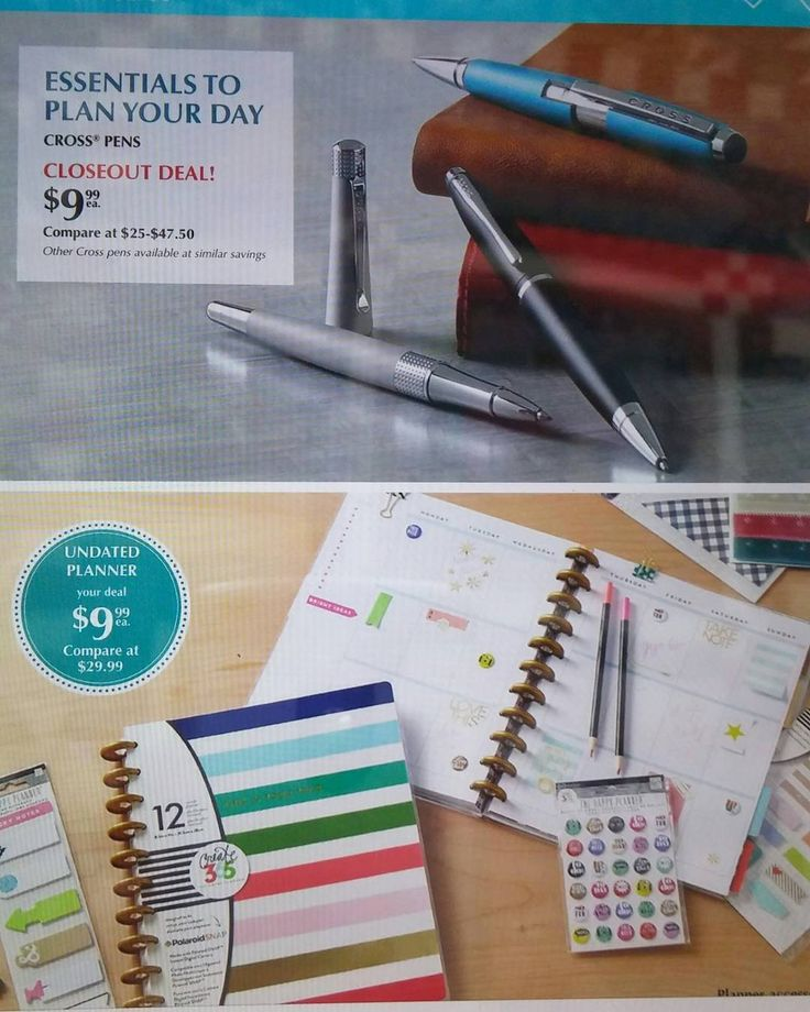 FYI: Tuesday Morning ad that starts Saturday advertising an undated happy planner for $9.99, Cross Pens $9.99 and Martha Stewart craft tools under $5? #happyplanner #Martha Stewart #Cross Pens http://misstagram.com/ipost/1553012084592532454/?code=BWNaENCBtvm