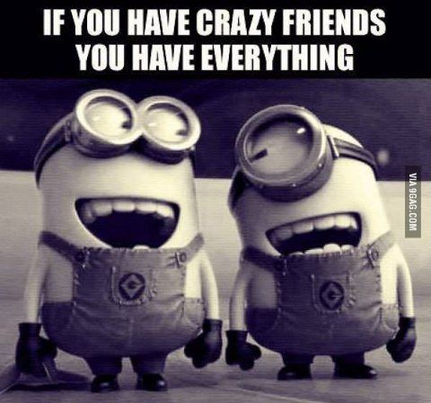 If you have crazy friends, you have everything!