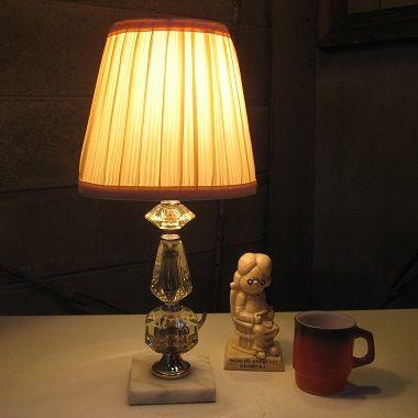 アンティークテーブルランプ クリスタルガラス