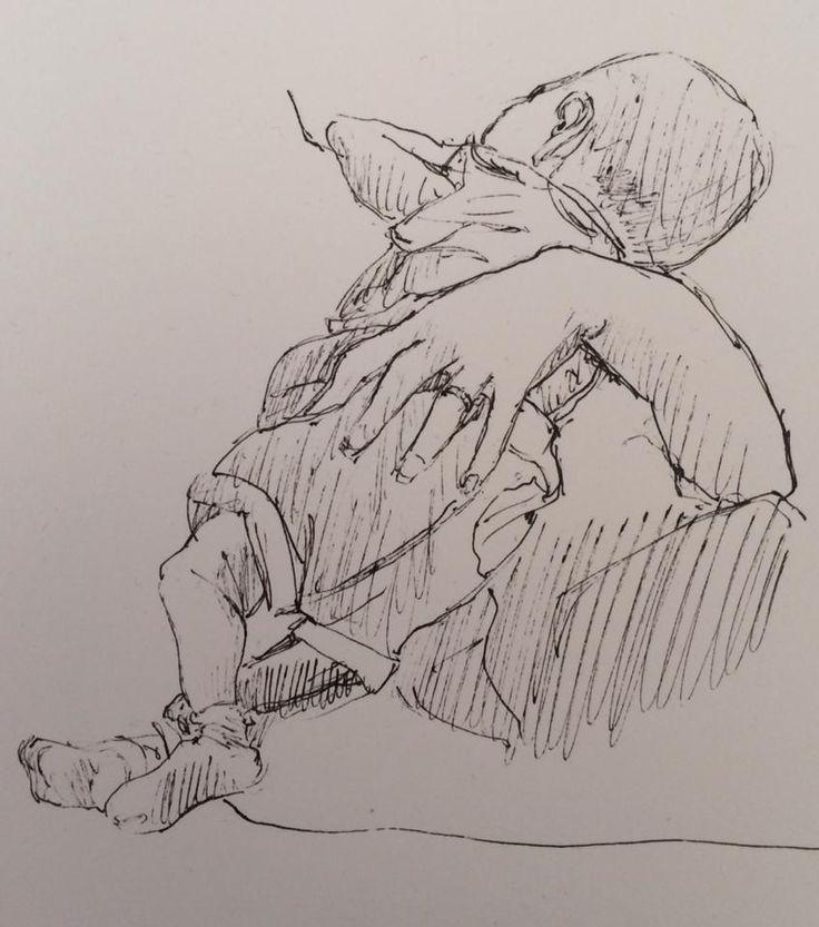 Son Nursing (Drawing)
