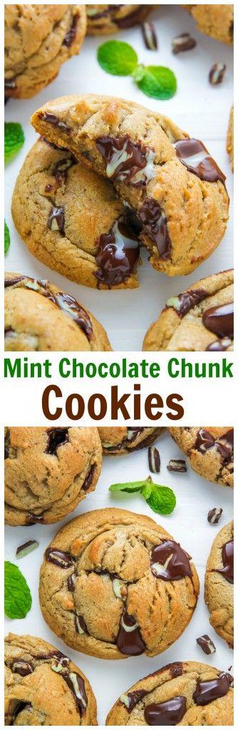 Mint Chocolate Chunk Cookies | Recipe | Chocolate Chunk Cookies, Mint ...