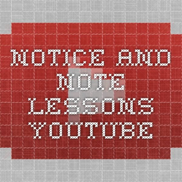 Notice and Note Lessons - YouTube