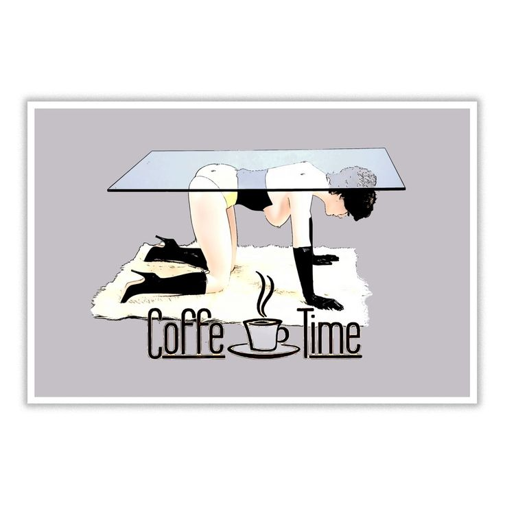 #Coffe Time In Dirty BDSM Bondage style funny #adult #cartoon clipart #poster design Naughty #erotic