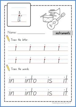 Handwriting - BUNDLE Lowercase Letters {NSW Foundation}. Sight Words.