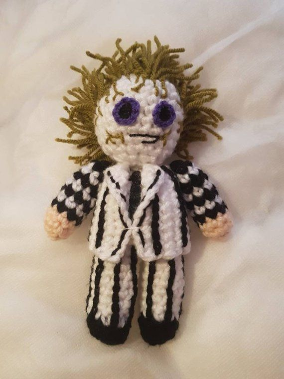 2nd Beetlejuice amigurumi | Beetlejuice, Amigurumi doll, Knitted toys | 760x570