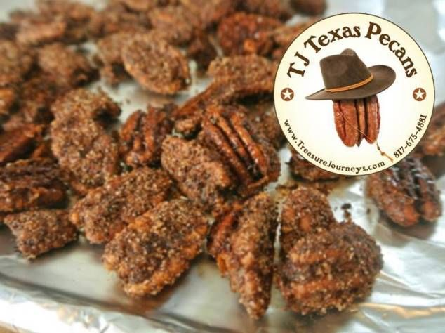 Sweet n Spicy TJ Texas Pecans in Festive Gift Bag | Treasure Journeys   Available in gift bag size that is great for party favors, client gifts or use at corporate events and meetings.