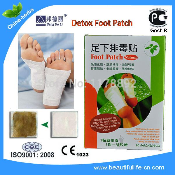 40 Pcs=2box Detox Foot Patch Relieving foot fatigue strong kidney Promoting sleeping Bamboo Pads Patches