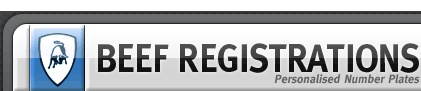 Beef Registrations - Private Number Plates, DVLA Registrations, Car Registrations