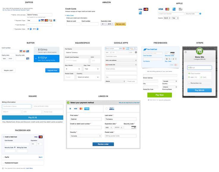 Best Ui Patterns Payments Images On   Form Design