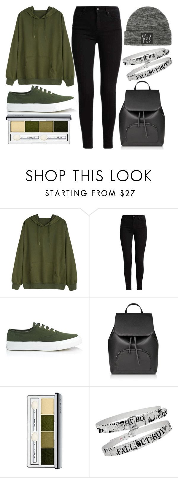 """""""Fall Out Boy and green"""" by thisisalle on Polyvore featuring Maison Kitsuné, Clinique and Hot Topic"""