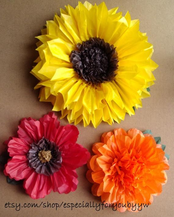 Fall Wedding Set Of 3 Giant Paper Flowers Women S Group Craft