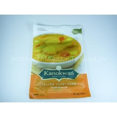 Желтая карри паста Kanokwan