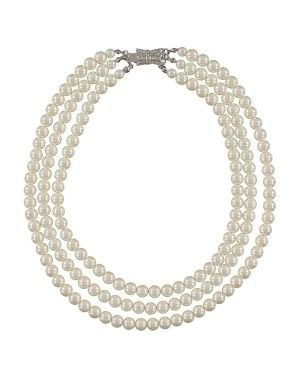 Triple Strand Pearl Necklace | Woolworths.co.za