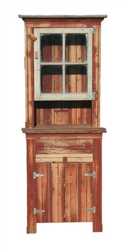 Rustic Country Furniture Hutch With Drawer TN08