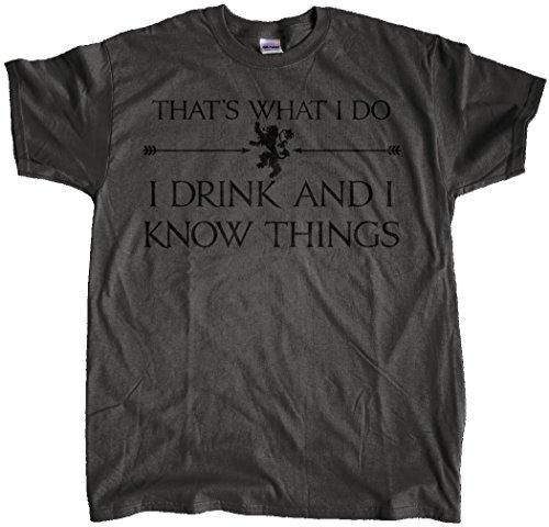 303T Men's Game of Thrones T-Shirt Large Charcoal