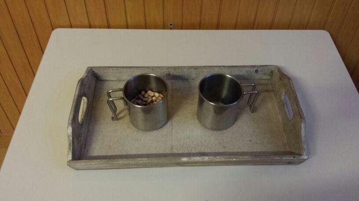 I miei vassoi ♡: travaso granaglie con due brocche con manici #montessori