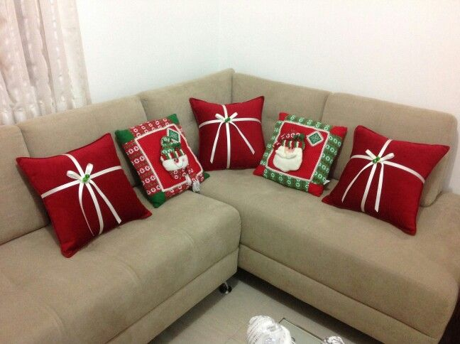 festive gift pillows