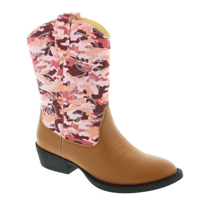 Deer Stags Ranch Kids' Cowboy Boots, Kids Unisex, Size: medium (11), Pink